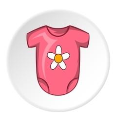 Infant bodysuit icon cartoon style vector image