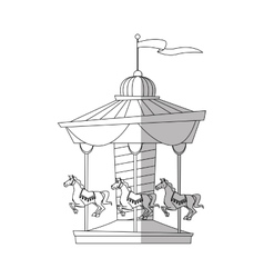 Isolated canival carousel design vector