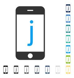 J phone icon vector