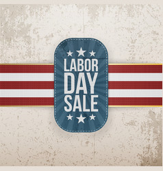 Labor Day Sale patriotic Tag with Stars vector