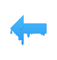 Left melting arrow icon previous symbol vector