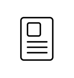 line document icon on white background vector image