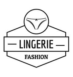 Lingerie female logo simple black style vector