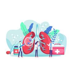 Lung health diagnosis concept vector