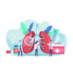 lung health diagnosis concept vector image