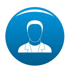 Man avatar icon blue vector