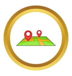 Map with pointers icon vector