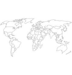 Mapa mundial vector