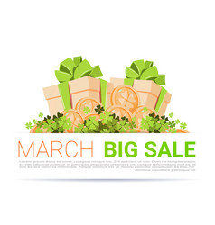 march big sale template poster background happy st vector image