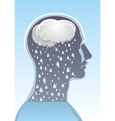 Mental health Headache vector image