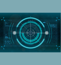 modern aiming system vector image