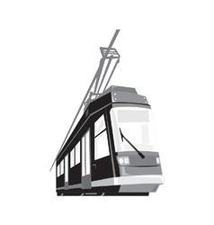 Modern Streetcar Tram Train vector