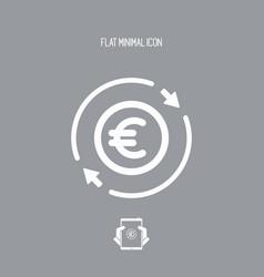 Money trade flat icon - euro vector