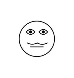 moustache emoticon vector image