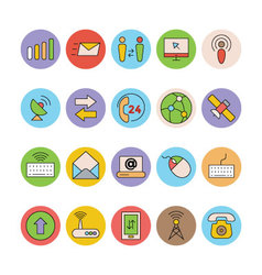 Networking and Communication Icons 5 vector