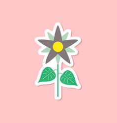 Paper sticker on stylish background flower vector