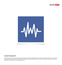 pulse line icon - blue photo frame vector image