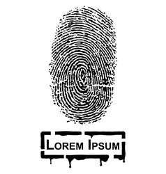 Realistic Fingerprint vector