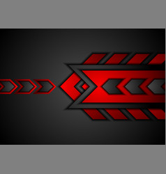 Red and black abstract technology background with vector