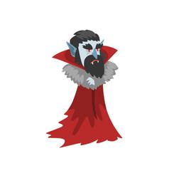Reepy count dracula vampire cartoon character vector
