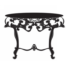 Rich Baroque commode Table vector image