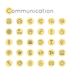 Round Communication Icons vector image