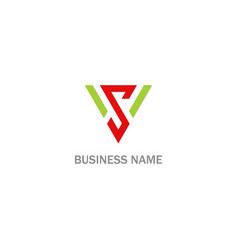 s shield initial business company logo vector image