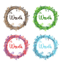 set icon wreath vector image