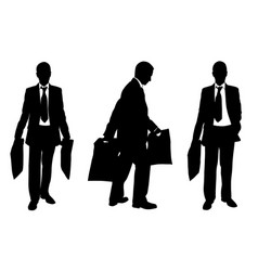 silhouettes of people with shopping bags vector image