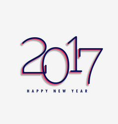 simple 2017 text style on white background vector image