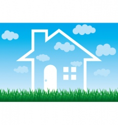 sky house vector image