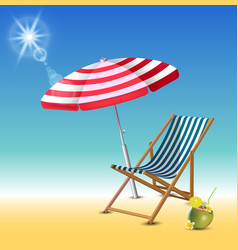 summer time holiday realistic background vector image