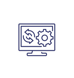 Update new software line icon art vector