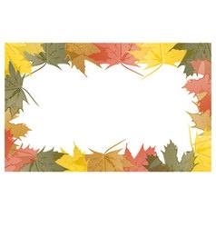 Wallpaper maple leaves in autumn vector