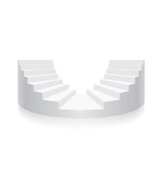 white stair isometric round vector image