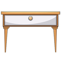 Wooden table vector image