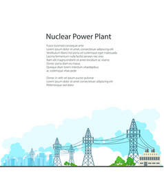 brochure electric power transmission vector image vector image