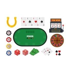 Cartoon Poker Set vector image vector image