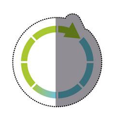 color sticker cycle icon vector image