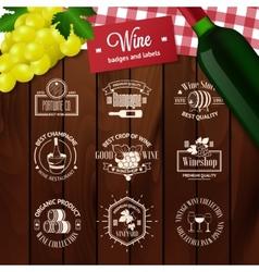 Set of elegant wine badges and labels Vintage vector image