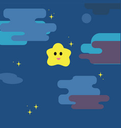 twinkle little star with night sky background vector image