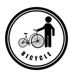 bicycle sport vector image