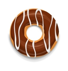 Chocolate donut icon cartoon style vector image vector image