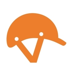 helmet horse riding icon vector image