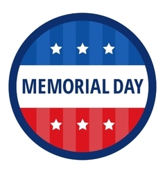 Memorial day color badge vector image vector image