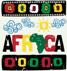 Africa elements vector image vector image