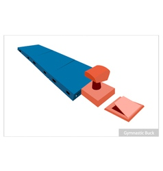 Artistic gymnastic buck equipments on white vector