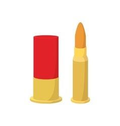 Golden bullets cartoon icon vector