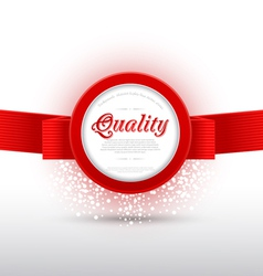 red banner vector image vector image