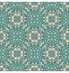 Damask seamless tiles design vector image